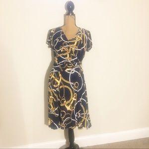 NWOT Ralph Lauren short sleeve wrap nautical dress